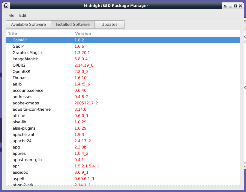 mport Package Manager Installed