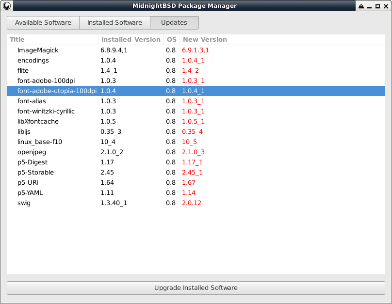 mport Package Manager Updates